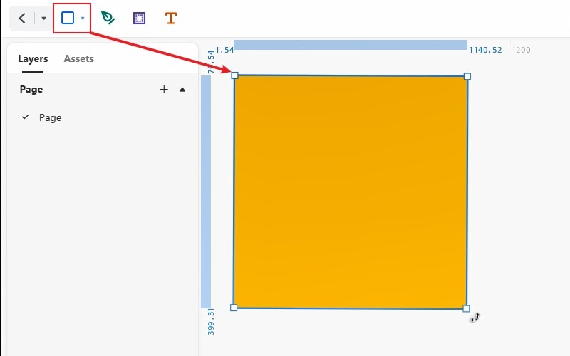 rectangle in basic shapes tool