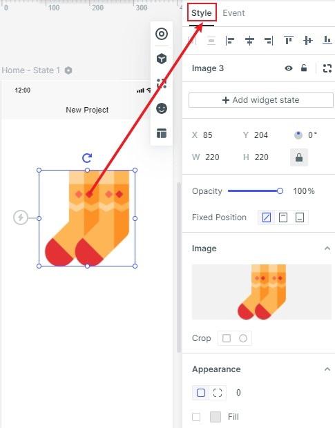 widgets styles