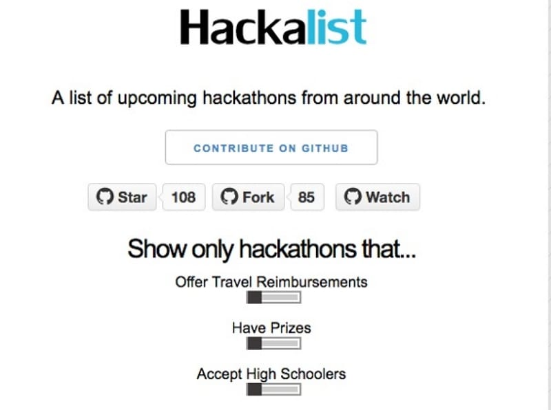 best hackathon websites