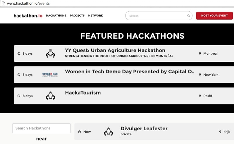 hackathon website template
