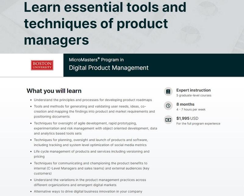 product management courses