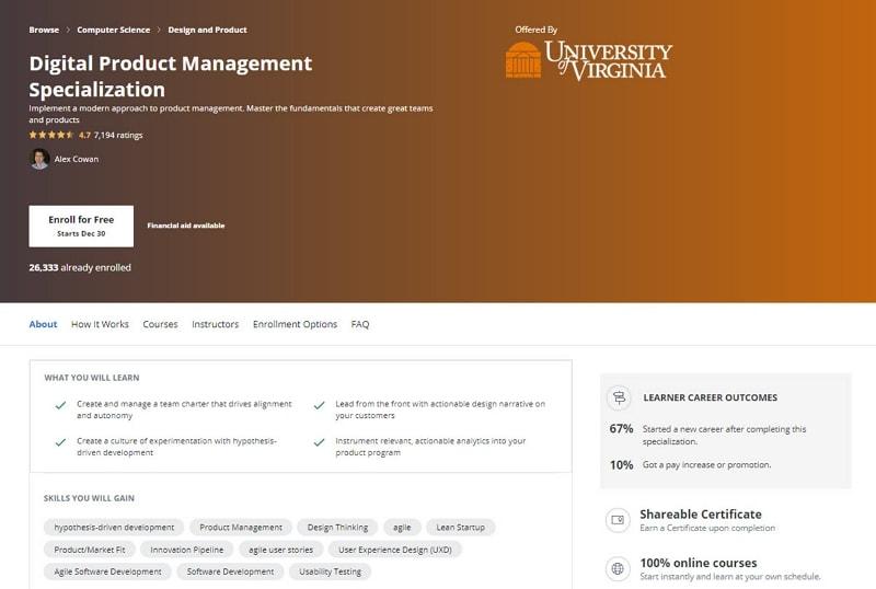 product management online courses