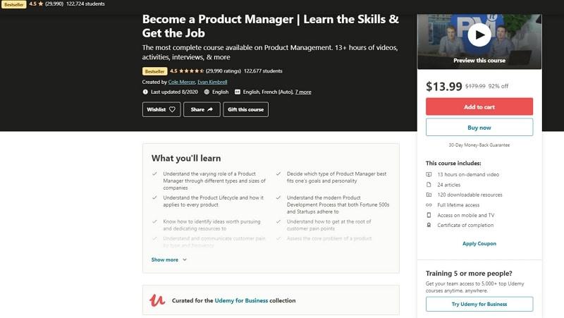 best product management courses