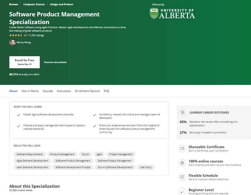 free product management courses