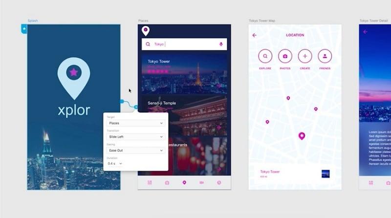 invision clickable prototype
