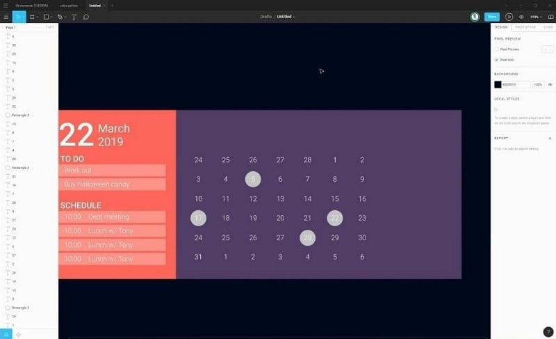 figma calendar