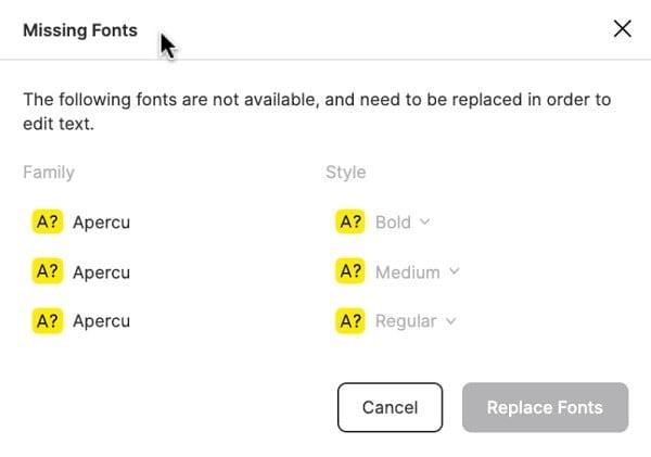 figma missing fonts