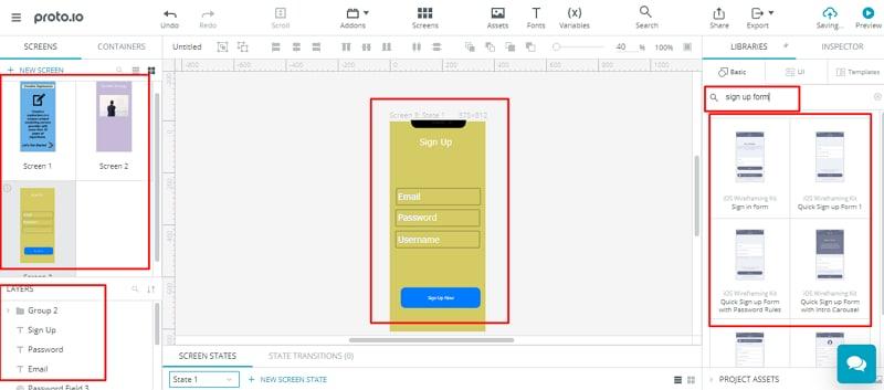 Proto.io desktop app