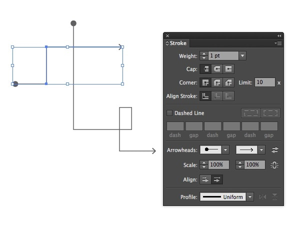 illustrator wireframe mode