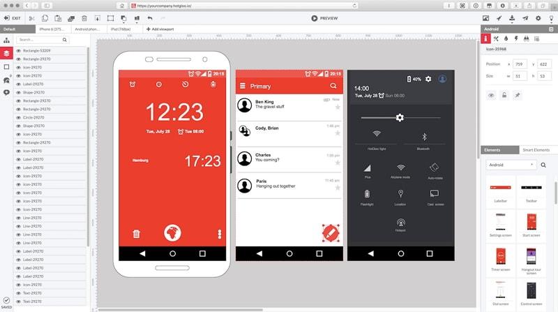 mockup app mobile