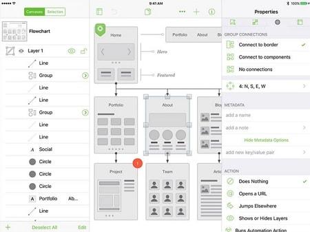 ipad app wireframe examples