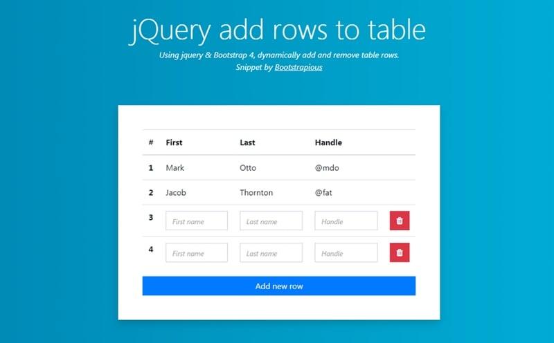 table ui design