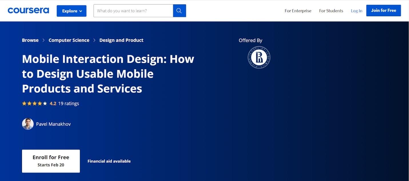 coursera ui ux design