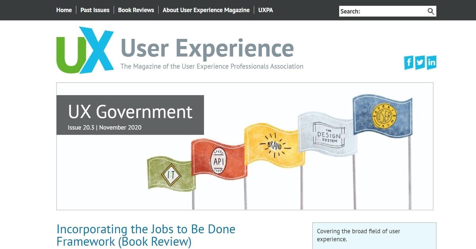 user experience magazine