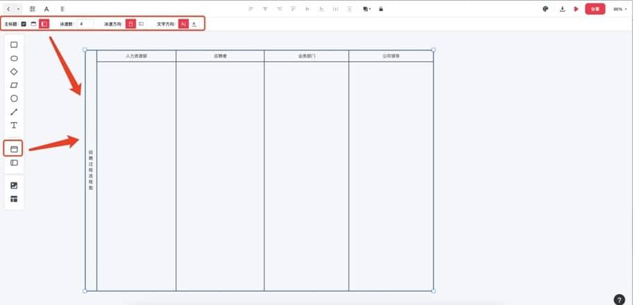 过程流程图模板