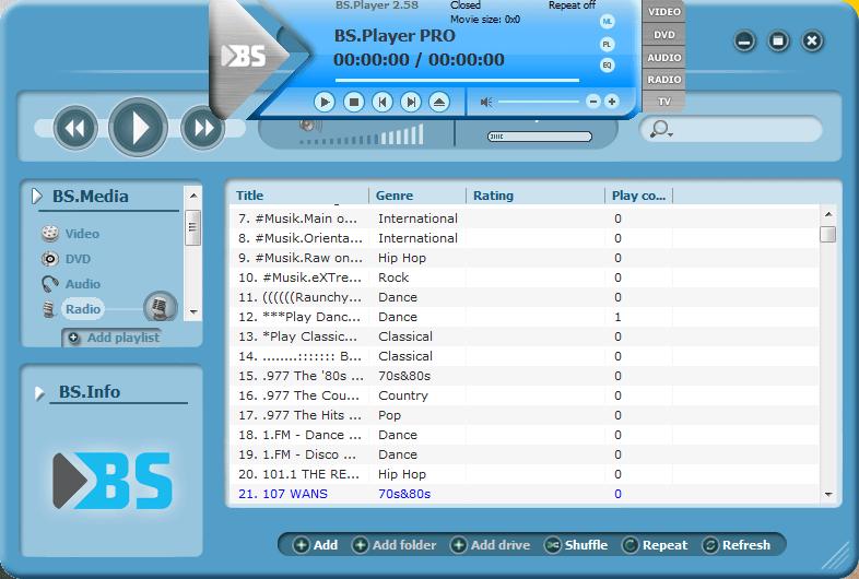 BSPlayer Pro - WMA Schnittprogramm