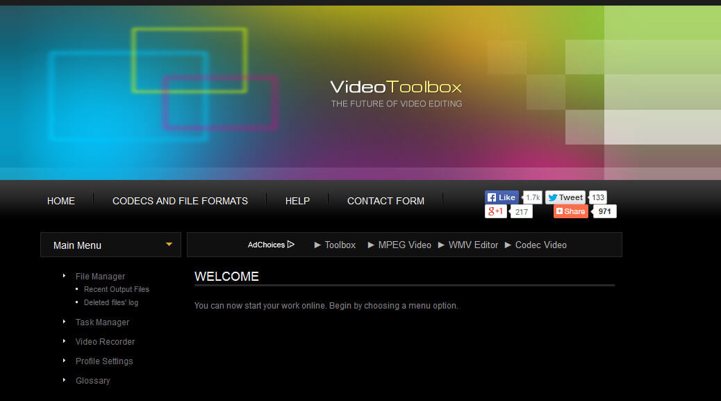 cut & trim videos online Create an Account and Login