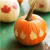 Fall Leaf Pumpkin
