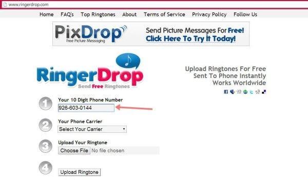 send ringtones to phones5