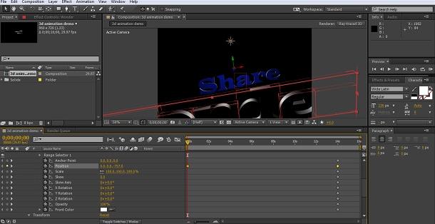 3D Text animieren