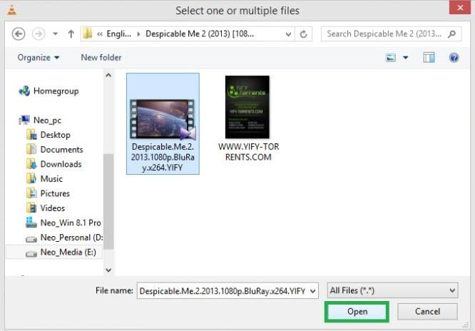 stream video with vlc