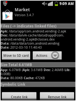 étape 9 partition de carte SD android