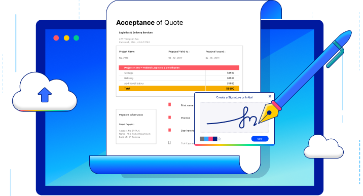 electronic signature banner
