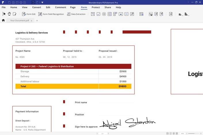 fill pdf form