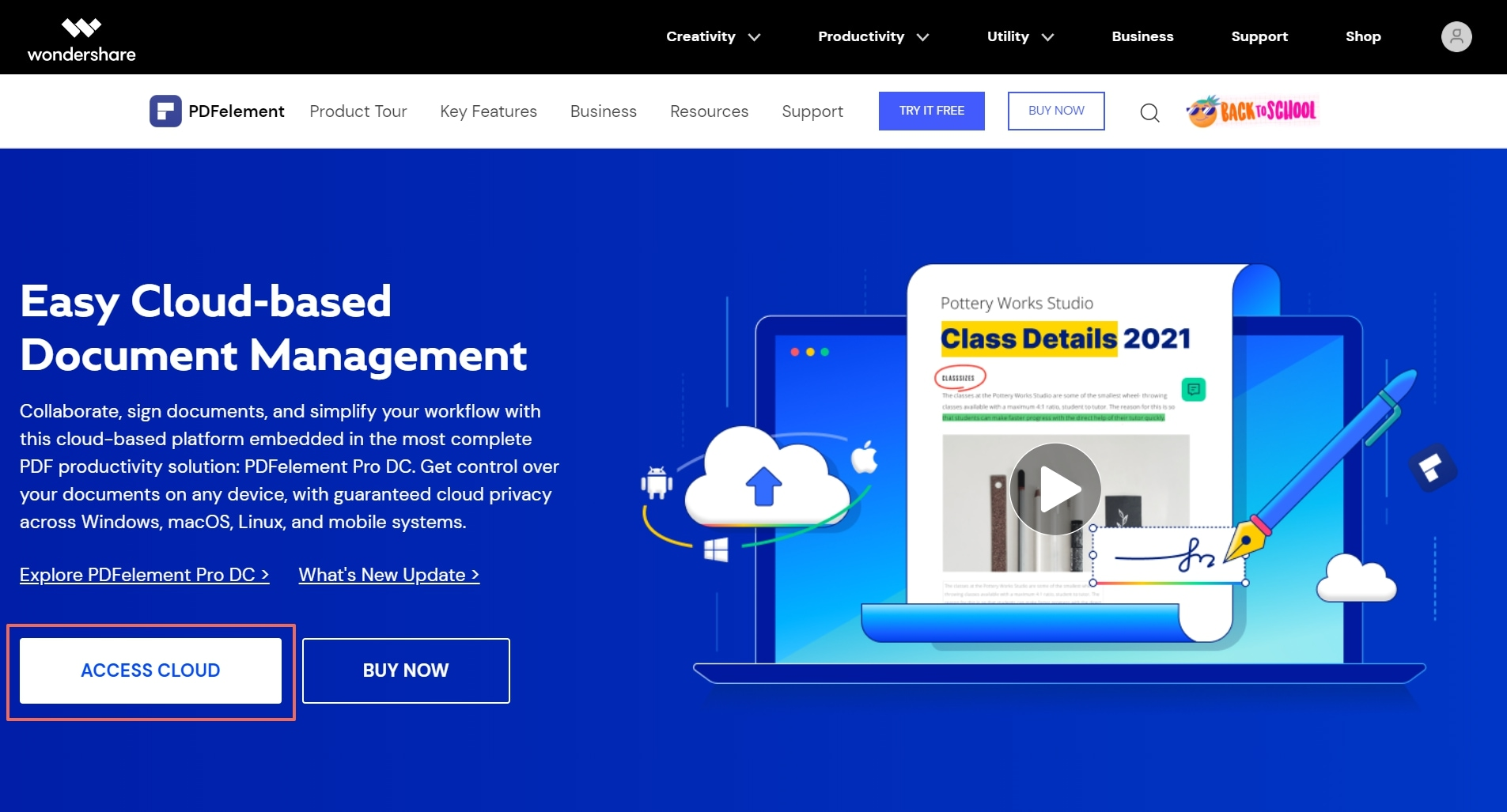 access document cloud