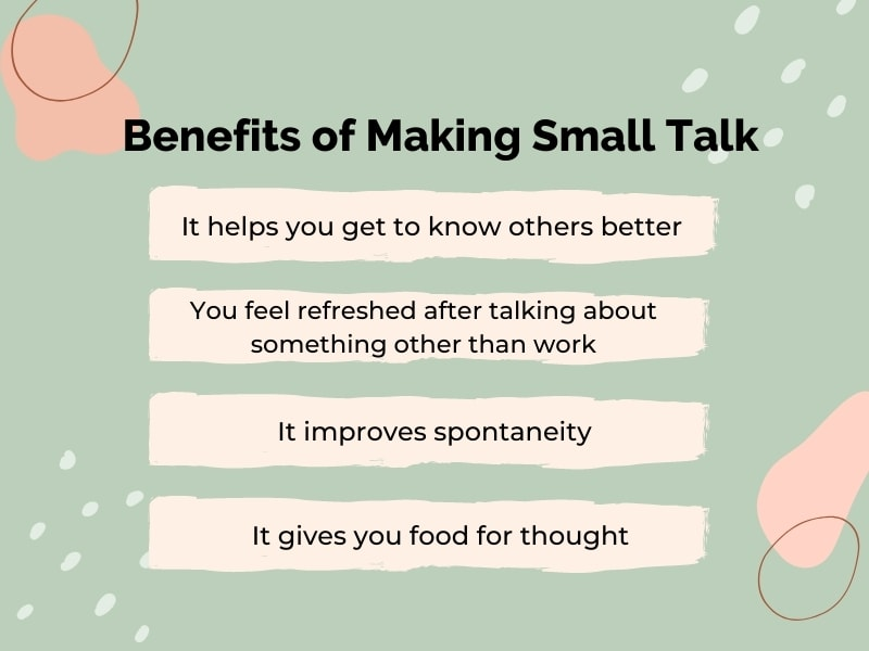 socialize with small talk