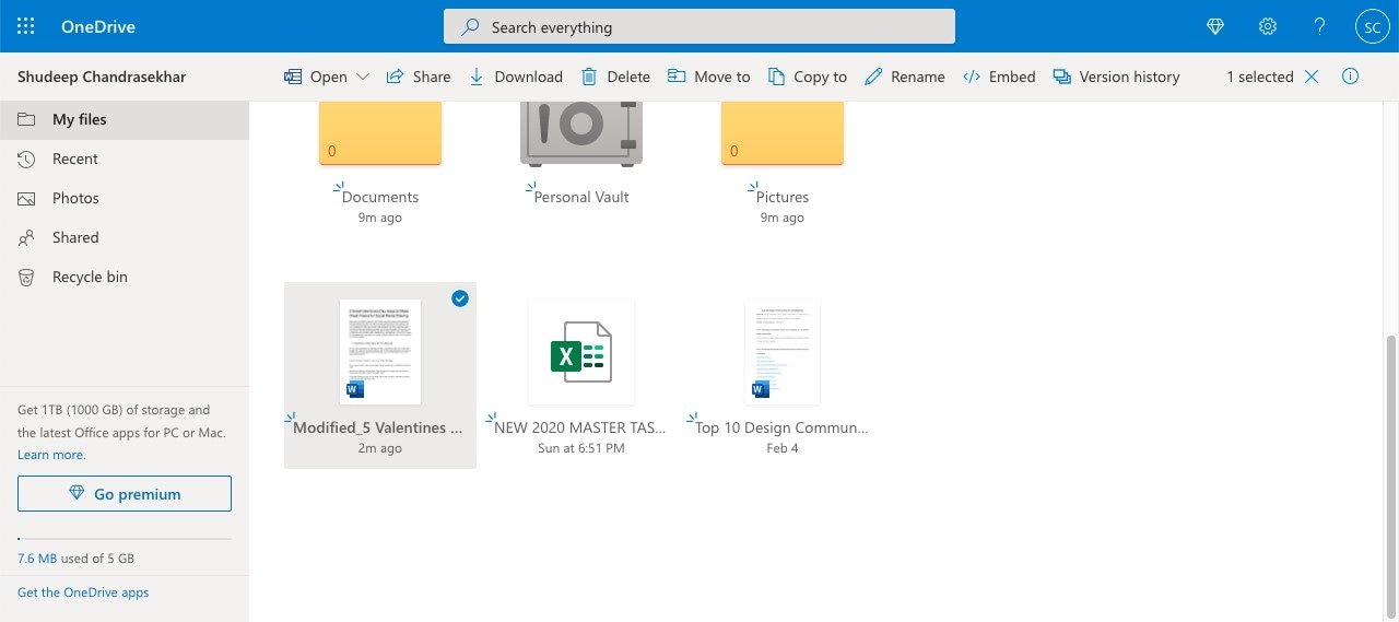 how to save to onedrive