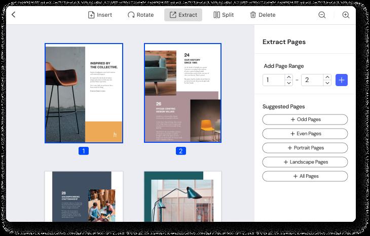Seiten aus PDF-Dateien extrahieren
