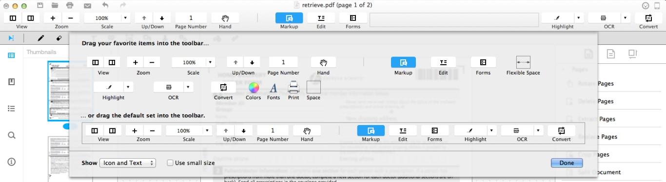 personalizar barra de ferramentas 2