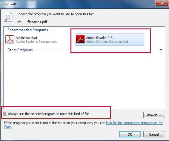 modifica programma predefinito per pdf