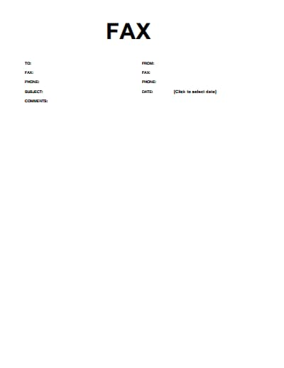 basic fax cover sheet template 1