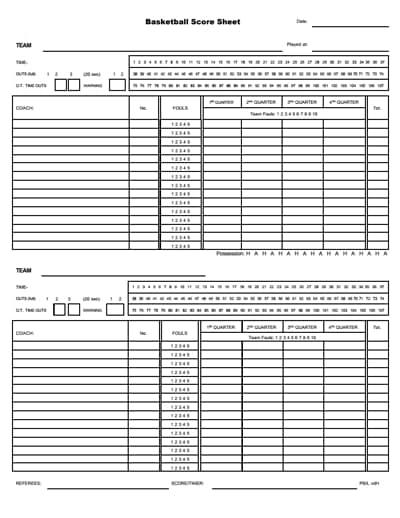 basketball score sheet 1
