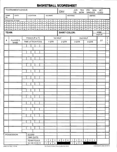 basketball score sheet 3