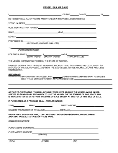 boat bill of sale form 3