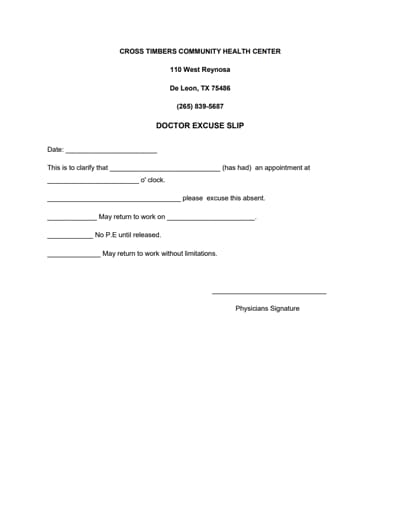 doctors note for work template 2