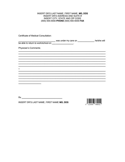 doctors note for work template 3