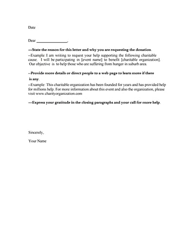 donation request letter template 1