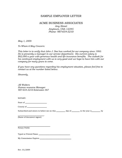 Sample Letter Of Employment from images.wondershare.com