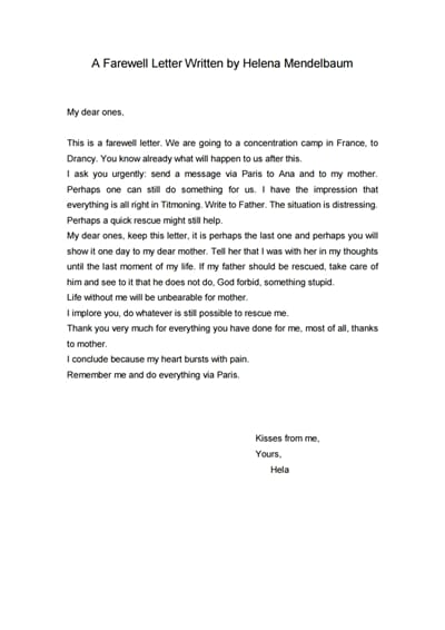 farewell letter template 3
