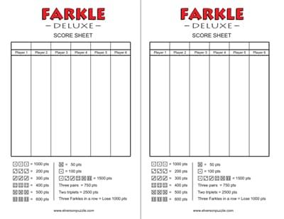farkle score sheet 1