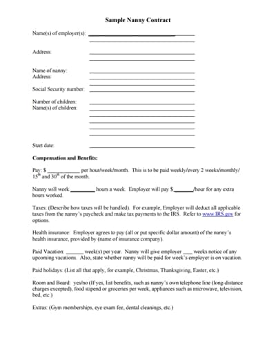 nanny-contract-template