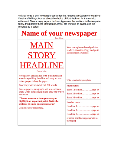 newspaper template 1