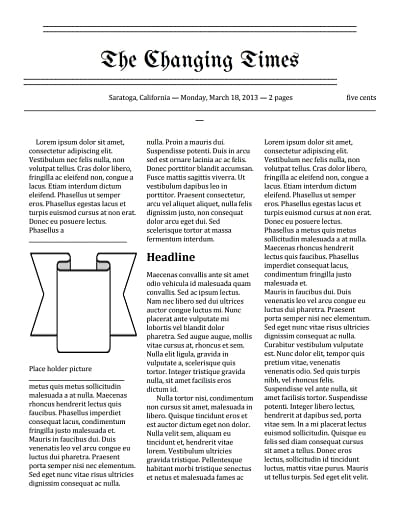 newspaper template 3