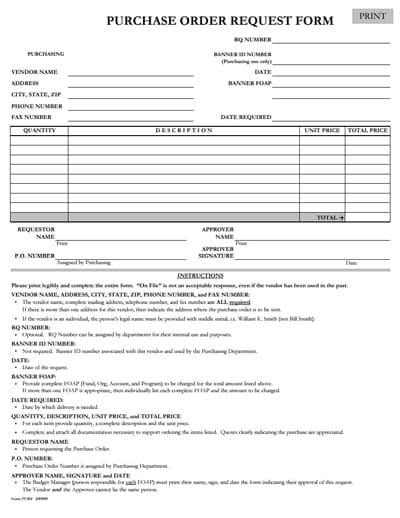 purchase order request form 3