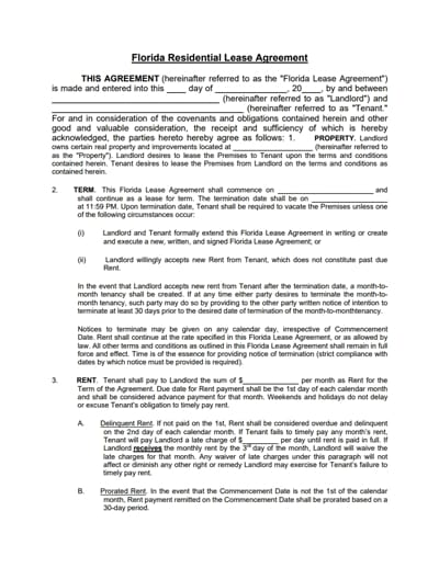 residential lease agreement template 2