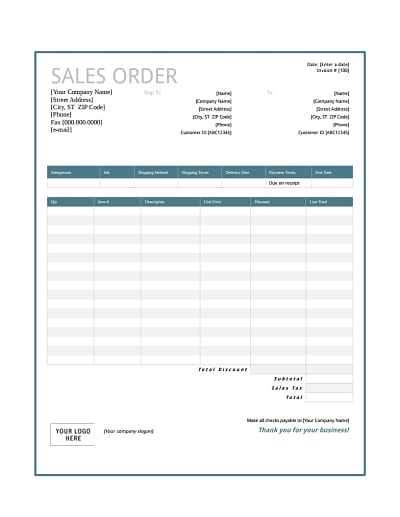 sales order template 1